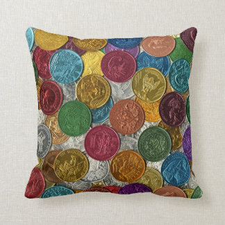 Vintage New Orleans Mardi Gras Doubloons Cushion
