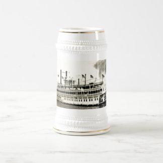 Vintage New Orleans River Stern Wheeler Stein Beer Steins