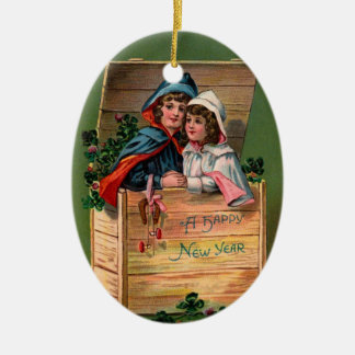 Vintage New Year Christmas Ornament