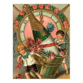 Vintage New Year Greeting Postcard