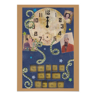 Vintage New Year Invitation (double sided)