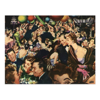 Vintage New Year's Eve Party Post Card