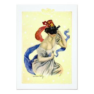 Vintage New Year's Eve Patriotic Masquerade Party 13 Cm X 18 Cm Invitation Card