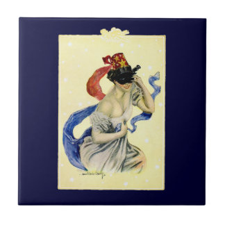 Vintage New Year's Eve Patriotic Masquerade Party Small Square Tile