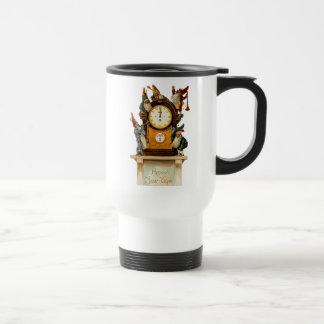 Vintage New Years Eve Travel Mug