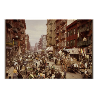Vintage New York 1890 Poster