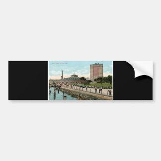 Vintage New York, Battery Park Car Bumper Sticker