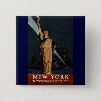 Vintage New York City 15 Cm Square Badge