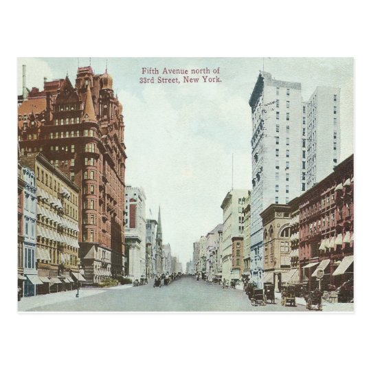 Vintage New York City 5th Avenue Postcard