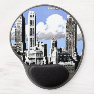 Vintage New York City Air Travel Gel Mousepad Gel Mouse Mat
