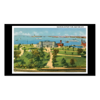 Vintage New York City, Aquarium, Battery Park Double-Sided Standard Business Cards (Pack Of 100)