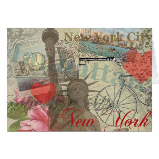 Vintage New York City Collage Greeting Card