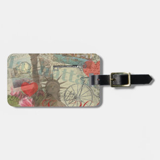 Vintage New York City Collage Luggage Tag