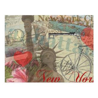 Vintage New York City Collage Postcard