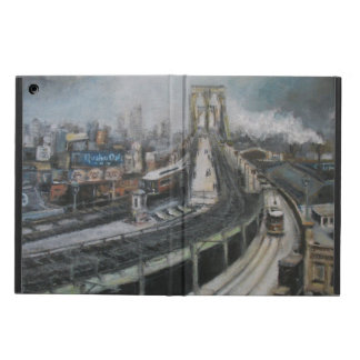 Vintage New York City Painting Brooklyn Bridge iPad Air Case
