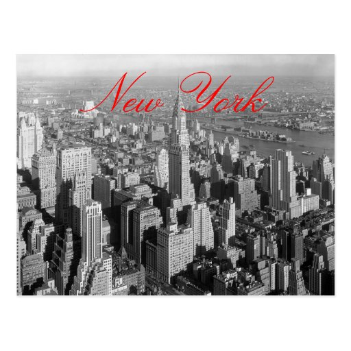 Vintage New York City Script Postcard