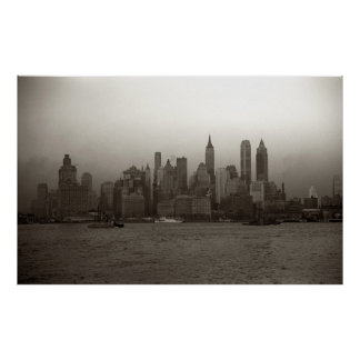 Vintage New York City Skyline Photograph (1941) Poster