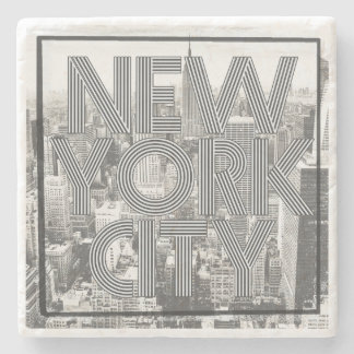 Vintage New York City Stone Coaster