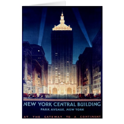 Vintage New York City, USA - Greeting Card