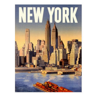 Vintage New York City, USA - Postcard