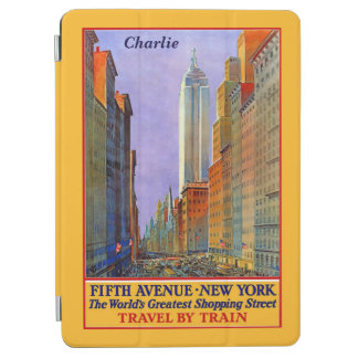 Vintage New York custom name device covers iPad Air Cover