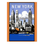 Vintage New York Skyline Post Cards