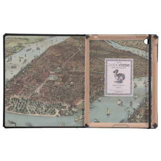 Vintage New York Waterfront iPad Case