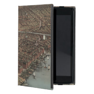 Vintage New York Waterfront Cover For iPad Mini