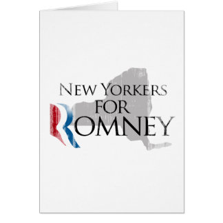 Vintage New Yorkers for Romney.png Greeting Card