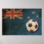 Vintage New Zealand Flag Print