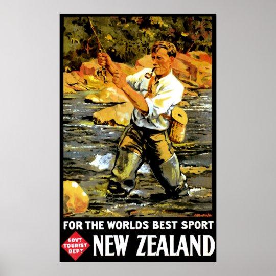 Vintage New Zealand Travel Poster