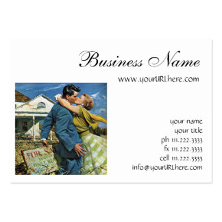 Vintage Newlyweds Buy First House, We're Moving! Pack Of Chubby Business Cards