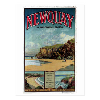 Vintage Newquay in the Cornish Riviera Travel Postcard