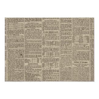 Vintage Newspaper 1902 13 Cm X 18 Cm Invitation Card