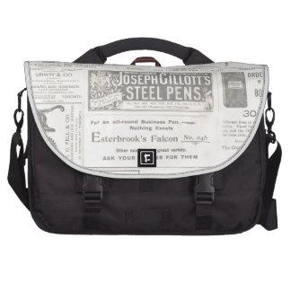 Vintage Newspaper Ad Laptop Bags