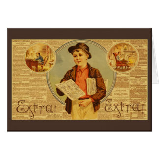 Vintage Newspaper Advertising Greetings Card