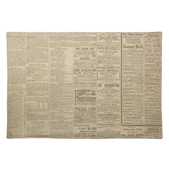 Vintage Newspaper background Place Mats