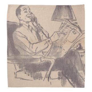 Vintage Newspaper Dad Bandana