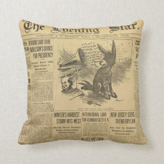 Vintage Newspaper Pillow! Cushion