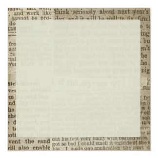 Vintage Newspaper Print 13 Cm X 13 Cm Square Invitation Card