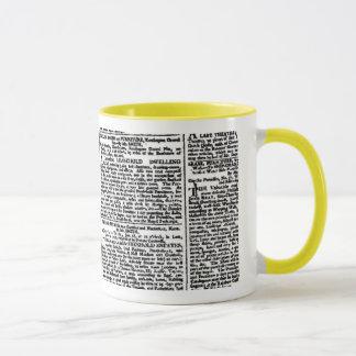 Vintage Newspaper Print Mug