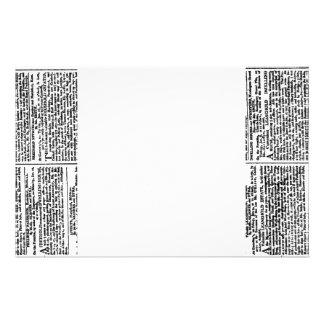 Vintage Newspaper Print Stationery