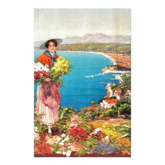 Vintage Nice Reine Cote D'Azur Personalized Stationery