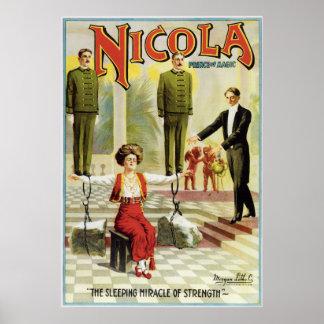 Vintage Nicola Magician Poster