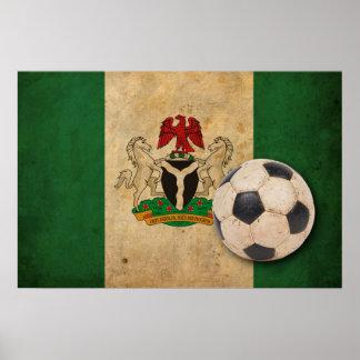 Vintage Nigeria Flag Print