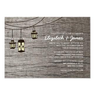 Vintage Night Light Wedding Invitations