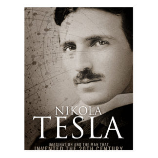 Vintage Nikola Tesla photo Postcard