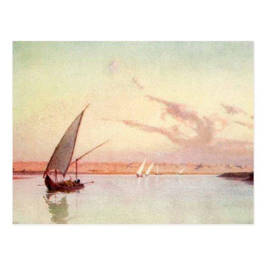 Vintage Nile River Sea Ocean Sailboat Talbot Kelly