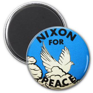 Vintage Nixon For Peace Button Magnet
