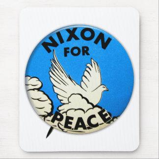 Vintage Nixon For Peace Button Mousepads